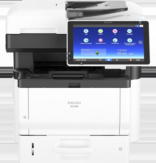 Ricoh IM 430F - Impressora Multifuncional Preto e Branco