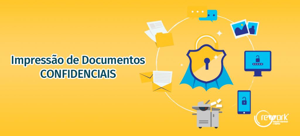 capa do impressão de documentos confidenciais